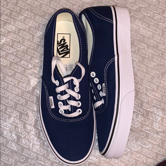 9ab025bef084e9 Authentic estate blue Vans